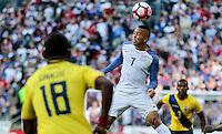 Seattle, WA - June 16, 2016: The U.S. Men's National team go up 1-0 over Ecuador in Quarterfinal action at the 2016 Copa America Centenario at CenturyLink Field.