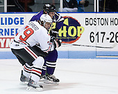 Cody Ferriero (Northeastern - 79), Kevin Ryan (Niagara - 2) - The visiting Niagara University Purple Eagles defeated the Northeastern University Huskies 4-1 on Friday, November 5, 2010, at Matthews Arena in Boston, Massachusetts.