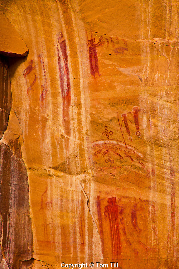 Barrier Canyon pictographs, UtahPainted rock art thousands of years old, Proposed BLM wilderness