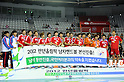 Korea team group (KOR), NOVEMBER 2, 2011 - Handball : South Korea team group during the closing ceremony after the Asian Men's Qualification for the London 2012 Olympic Games final match between South Korea 26-21 Japan in Seoul, South Korea.  (Photo by Takahisa Hirano/AFLO)