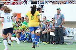 10 November 2013: Brazil head coach Marcio Oliveira (BRA) (right). The United States Women's National Team played the Brazil Women's National Team at the Citrus Bowl in Orlando, Florida in an international friendly soccer match. The U.S. won the match 4-1.