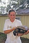 Abbie Sorenson Holding Gopher Tortoise