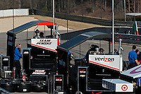 20-21 Febuary, 2012 Birmingham, Alabama USA.Team Penske pit lane .(c)2012 Scott LePage  LAT Photo USA