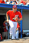 10 March 2012: Washington Nationals' infielder Mark DeRosa takes to the field to start a Spring Training game against the New York Mets at Space Coast Stadium in Viera, Florida. The Nationals defeated the Mets 8-2 in Grapefruit League play. Mandatory Credit: Ed Wolfstein Photo