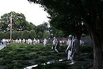 The Korean War Memorial in Washington, D.C. during early July 2008.