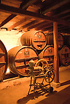 Chile Wine Country: Antique winemaking equipment on display at Undurraga Winery, Vina Undurraga, near Santiago..Photo #: ch438-32842..Photo copyright Lee Foster, 510-549-2202, www.fostertravel.com, lee@fostertravel.com.