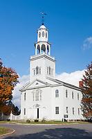 Old First Church in Bennington, Vermont on a sunny Autumn day.