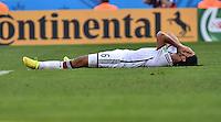 FUSSBALL WM 2014                VIERTELFINALE Frankreich - Deutschland           04.07.2014 Sami Khedira (Deutschland) am Boden