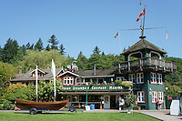 Union Steamship Marina building in Snug Cove, Bowen Island, British Columbia, Canada