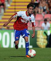 FUSSBALL  DFB POKAL        SAISON 2012/2013 SpVgg Unterchaching - 1. FC Koeln  18.08.2012 Dominik Rohracker  (Unterhaching)