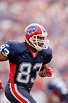 25 September 2005: Lee Evans, Wide Receiver for the Buffalo Bills, runs down the sidelines during a game against the Atlanta Falcons. The Falcons defeated the Bills 24-16 at Ralph Wilson Stadium in Orchard Park, NY.<br /><br />Mandatory Photo Credit: Ed Wolfstein.