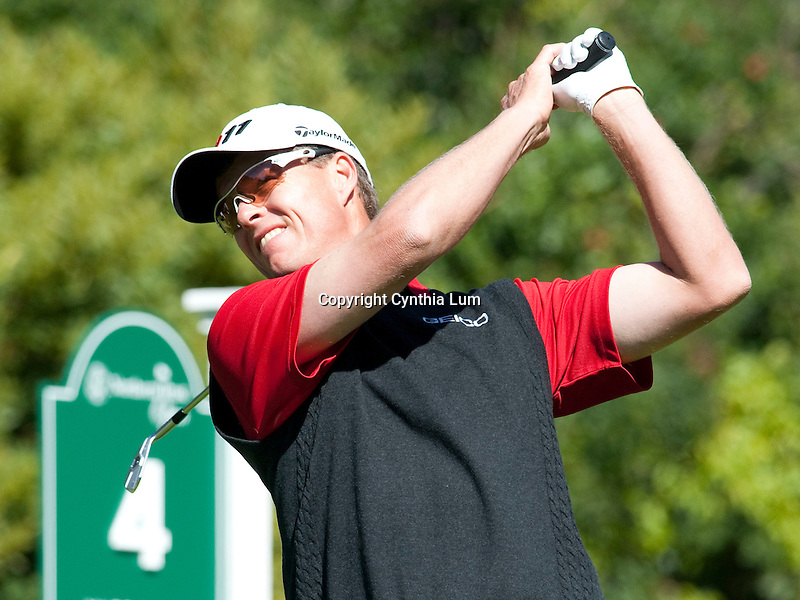 February 20, 2012.John Senden in action at the Northern Trust Open,  Riviera Country Club, Pacific Palisaides, CA...