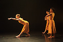 London, UK. 26.05.2016. dotdotdot dance present new work as a Wild Card in the Lilian Baylis Studio, Sadler's Wells. dotdotdot dance is a new company of three young British dancers who have fallen in love with flamenco. Magdalena Mannion, yinka Esi Graves and Noemi Luz all trained in different dance styles before adopting this art form. Picture shows: Noemi Luz, Magdalena Mannion, Yinka Esi Graves. Photograph © Jane Hobson.