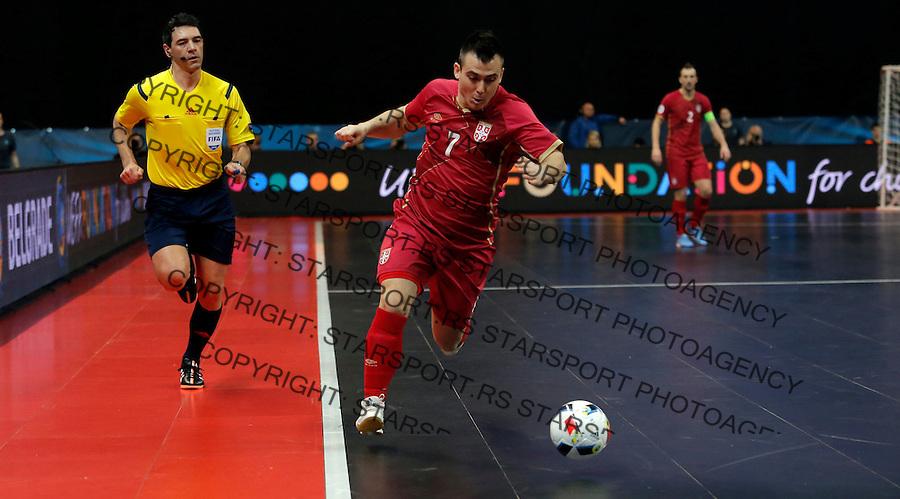 Slobodan Janjic UEFA Euro 2016 Futsal Evropsko Prvenstvo, Srbija - Slovenija 2.2.1016. Februar 2. 2016. (credit image & photo: Pedja Milosavljevic / STARSPORT) total