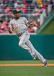 7 April 2016: Miami Marlins infielder Dee Gordon in action during the Washington Nationals Home Opening Game at Nationals Park in Washington, DC. The Marlins defeated the Nationals 6-4 in their first meeting of the 2016 MLB season. Mandatory Credit: Ed Wolfstein Photo *** RAW (NEF) Image File Available ***