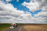 Cloudscape and highway, Washington's high desert east of the Columbia River.