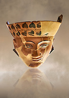 An Etruscan Dinos ( style of vase) with a face, from the Group of Dinoi Campana Ribbon Painter,  540-520 B.C. inv 3784, National Archaeological Museum Florence, Italy