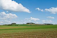 Spring farm fields, Franconia, Bavaria, Germany