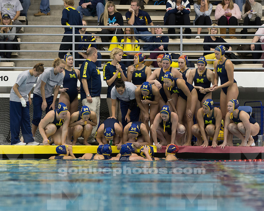 The University of Michigan women's water polo team beat Mercyhurst, 25-3, at Canham Natatorium in Ann Arbor, Mich., on March15, 2013.