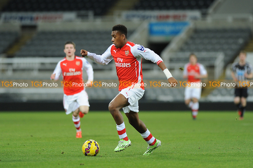 Alex Inobi of Arsenal - Newcastle United Under-21 vs Arsenal Under-21 - Barclays Under-21 Premier League Football at St James Park, Newcastle United FC - 09/02/15 - MANDATORY CREDIT: Steven White/TGSPHOTO - Self billing applies where appropriate - contact@tgsphoto.co.uk - NO UNPAID USE