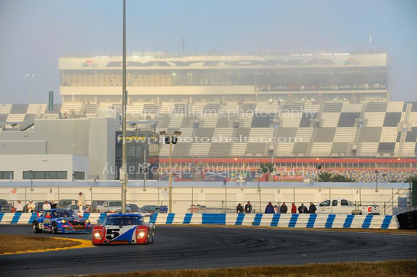 #5 Action Express Porsche/Riley of Darren Law, David Donohue, Buddy Rice & Burt Frisselle