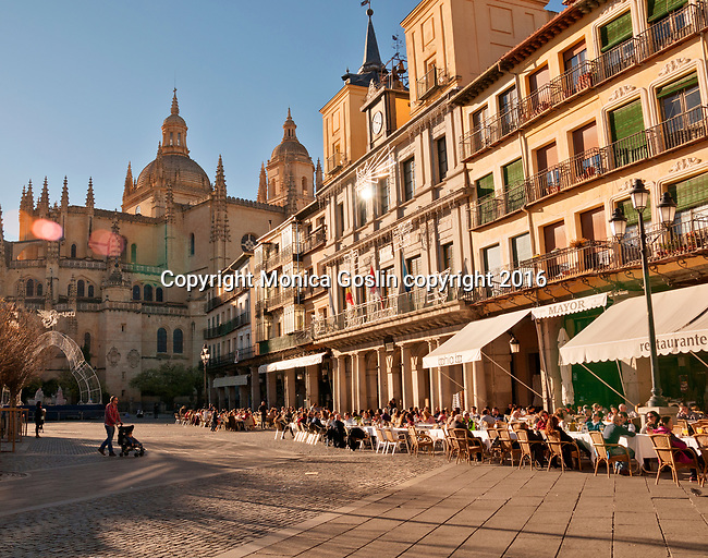 Plaza Mayor and the Cathedral of Segovia, built between 1525 and 1577 in the late Gothic style