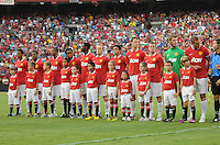 Manchester United during the presentation of the team. Manchester United defeated Barcelona FC 2-1 at FedEx Field in Landover, MD Saturday July 30, 2011.