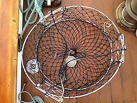 Crab Pot on SV Maple Leaf, Gulf Islands, British Columbia, Canada