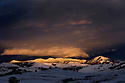 WY00479-00...WYOMING - Sunset in the Lamar Valley of Yellowstone National Park.