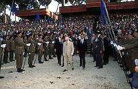 """Sandro Pertini (Partito Socialista Italiano) 1984.(1896-1990).Presidente della Repubblica Italiana dal Luglio 1978 al 29 Giugno 1985. Al Concorso Ippico Internazionale """"Piazza di Siena"""""""