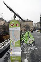 Bike hire scheme, Budapest, Hungary