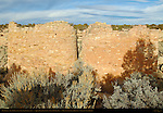 Twin Towers, Anasazi Hisatsinom Ancestral Puebloan Site, Square Tower Settlement, Little Ruin Canyon, Hovenweep National Monument, Colorado - Utah Border