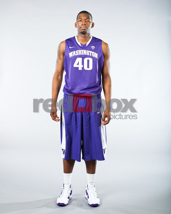 Shawn Kemp, Jr.---Washington Huskies men's basketball team photo shoot on Monday, October 10, 2011. (Photo by Dan DeLong/Red Box Pictures)