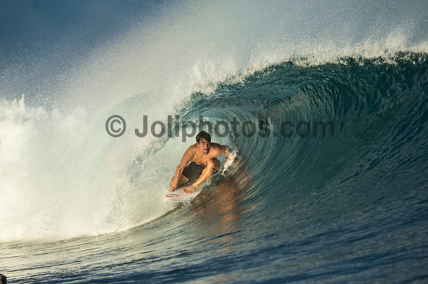 Namotu Island Resort, Namotu, Fiji. (Wednesday June 4, 2014) Aritz Aranburu (EUK) – Free surfing session went down this morning while organises debated a starting time for the Fiji Pro. Photo: joliphotos.com