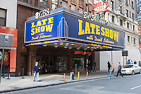 The historic Ed Sullivan Theater on Broadway in New York City.  The theater has been the home of the Late Show with David Letterman since 1993.