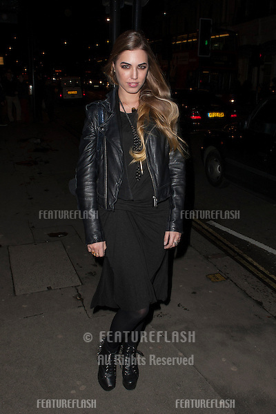 Amber Le Bon arriving for the launch party for new adult soft drink ZEO.Buddah Bar  Knightsbridge, London. 31/01/2013 Simon Burchell / Featureflash