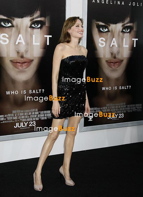 "ANGELINA JOLIE - PREMIERE DU FILM ""SALT"" AU GEAUMAN'S CHINESE THEATRE A HOLLYWOOD .. ""SALT"" MOVIE PREMIERE AT THE GRAUMAN'S CHINESE THEATRE IN HOLLYWOOD..LOS ANGELES"