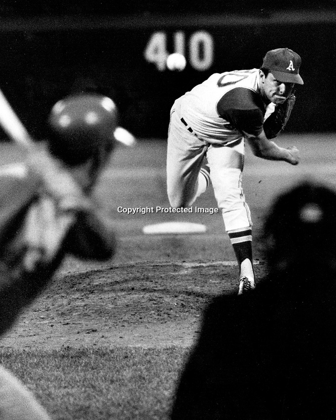 Oakland Athletics pitcher Jim Nash .(Sept 7,1968 photo/Ron Riesterer)