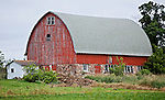A collection of Barns that still can be seen while traveling the countryside in  the beautiful State of Wisconsin.<br /> Wood County-Barn at 3430 County Road B, 9.3 miles south of Marshfield.