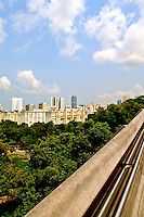 Singapore landscape blue sky white clouds views from bridge N A Ebden photo