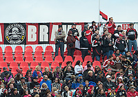 06 October 2012: D.C. United fans show their support during an MLS game between D.C. United and Toronto FC at BMO Field in Toronto, Ontario..D.C. United won 1-0..