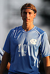 31 August 2012: UNC's Andy Craven. The University of North Carolina Tar Heels defeated the West Virginia University Mountaineers 1-0 at Fetzer Field in Chapel Hill, North Carolina in a 2012 NCAA Division I Men's Soccer game.