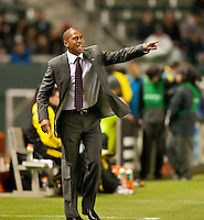 CARSON, CA – APRIL 9, 2011: Chivas USA head coach Robin Fraser during the match between Chivas USA and Columbus Crew at the Home Depot Center, April 9, 2011 in Carson, California. Final score Chivas USA 0, Columbus Crew 0.