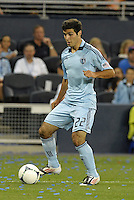 Sporting forward Soony Saad (22) in action..Sporting Kansas City defeated Colorado Rapids 2-0 in Open Cup play at LIVESTRONG Sporting Park, Kansas City, Kansas.