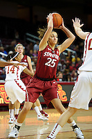 LOS ANGELES, CA - December 29, 2011:  Stanford's Erica Payne during play against the USC Trojans at the Galen Center.   Stanford defeated USC, 61 - 53.