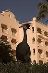 African Crane at Pueblo Bonito Rose' Resort, Cabo San Lucas, Baja California, Mexico