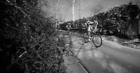 Dwars door Vlaanderen 2012.Frederik Veuchelen going downhill fast