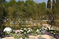 Giardini nella piazza di Ascoli Piceno. Garden in the squame in Ascoli Piceno..