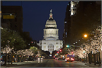 Did you know the Texas State Capitol is the 2nd tallest capitol building in the United States? The only one higher is our nation's capitol in Washington D.C.<br /> This view of the Lone Star State Capitol comes from Congress Avenue.