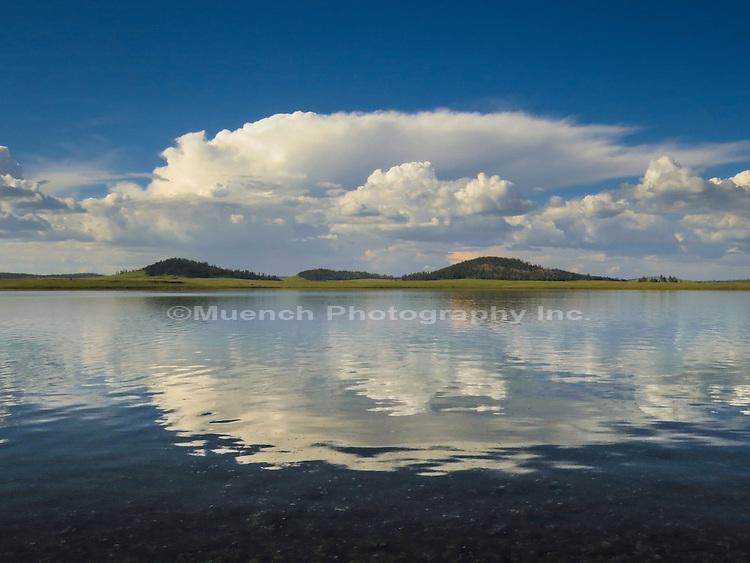 Big Lake reflection of Thunderhead in the White Mountains Arizona